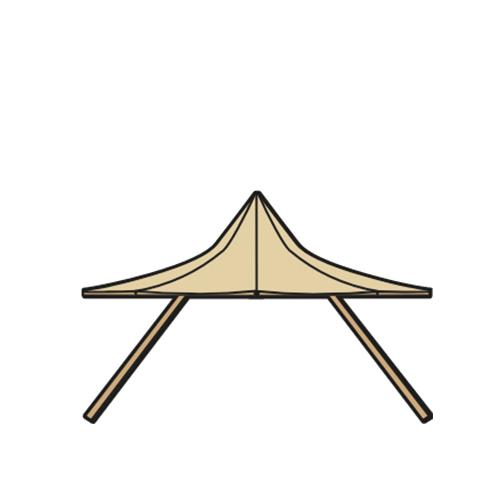 Alquiler de carpas para bodas Tipi modelo Nimbus